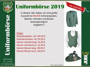 Uniformbörse @ Schützenhaus Bunnen